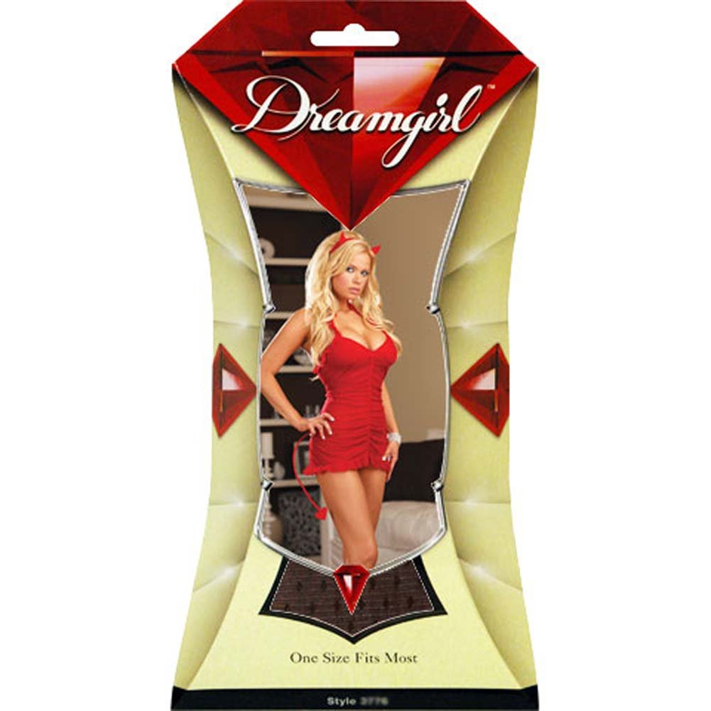 Sinners Paradise Chemise with Devil Tail and Horn Black - View #4