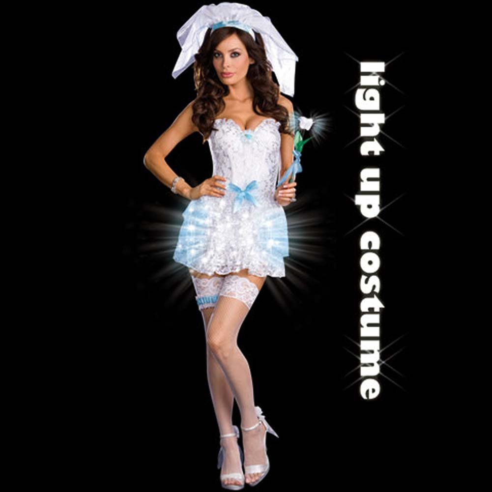 LIGHT Up My Life Bride Costume Small - View #2
