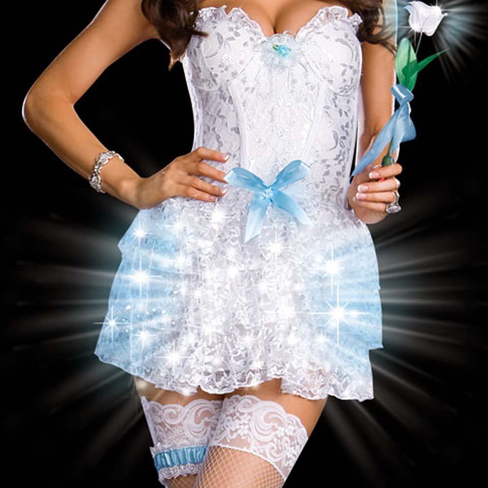 LIGHT Up My Life Bride Costume Extra Large - View #4
