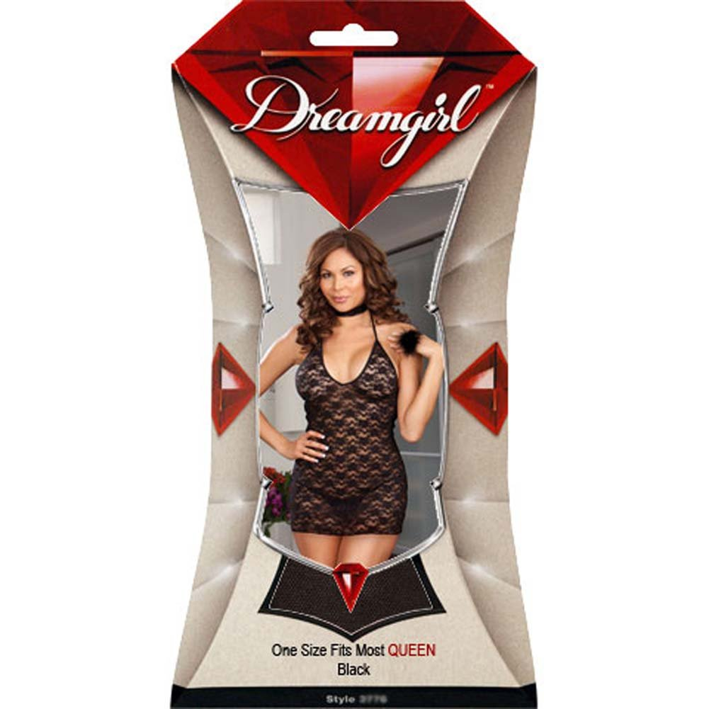 Teaser Pleaser Chemise Set with Accessories Plus Size Black - View #4