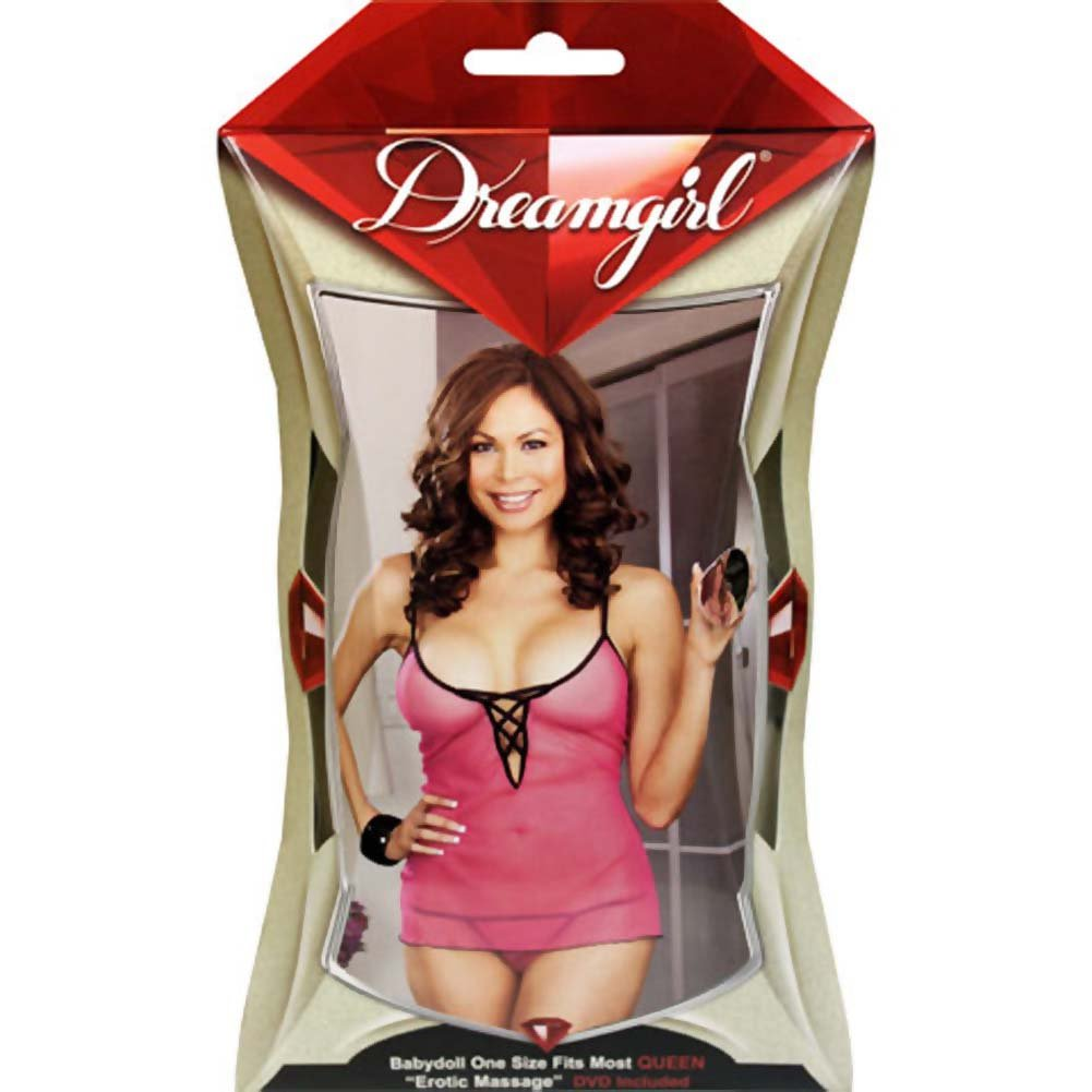 Beyond The Bedroom DVD and Pink Laced Babydoll Set Plus Size Pink - View #4