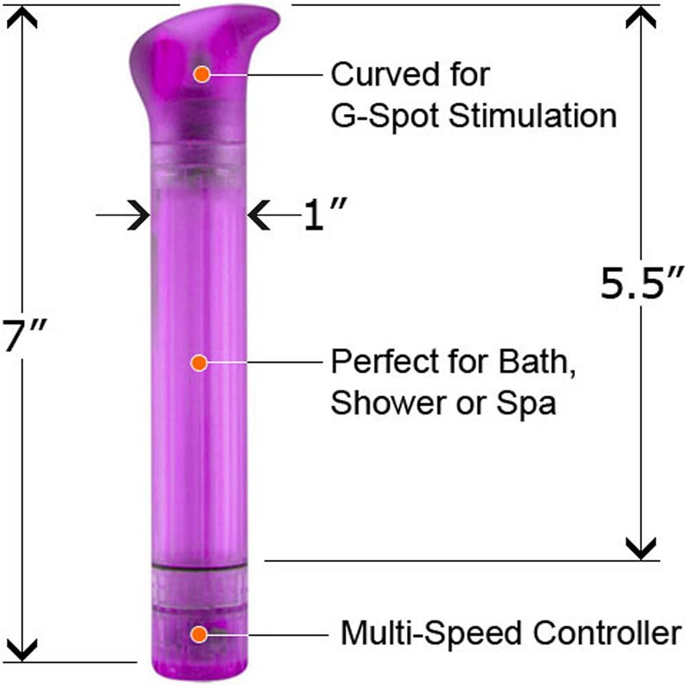"10 Function Thumper Waterproof Vibe 7"" Purple - View #1"