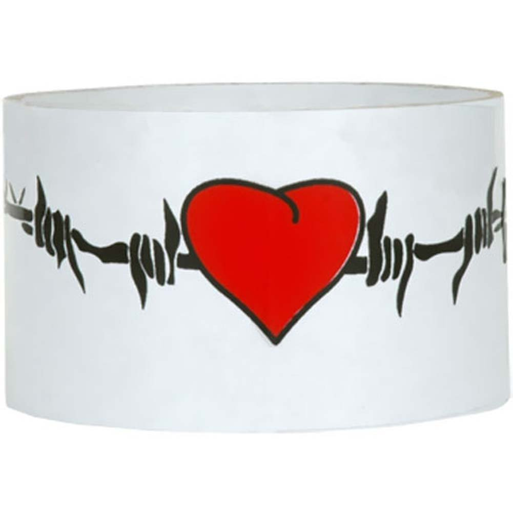 Reusable Designer Bondage Tape with Barbed Wire Hearts 30 Ft - View #1