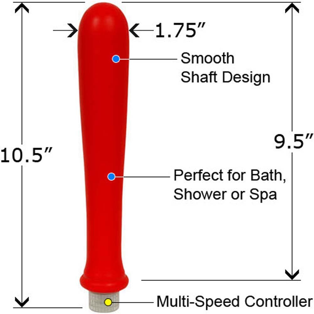 "XXL European Collection Waterproof Bat Vibe 10.5"" Red - View #1"