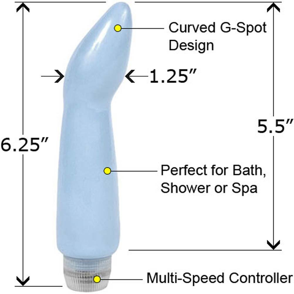 "Blu Toys Princess G-Spot Waterproof Vibe 6.25"" Blue - View #1"