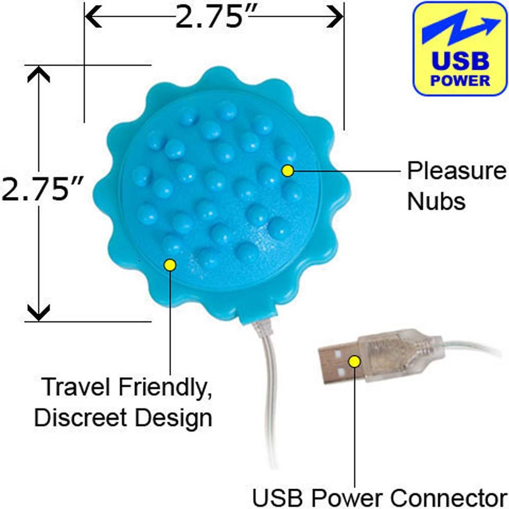 "iPhone Charger Compatible Vibrating Massage Ball 2.75"" Blue - View #1"