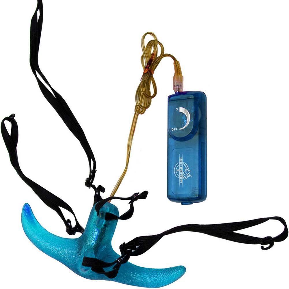 "Horney Lover Strap-On Set with Vibe 7"" Blue - View #2"