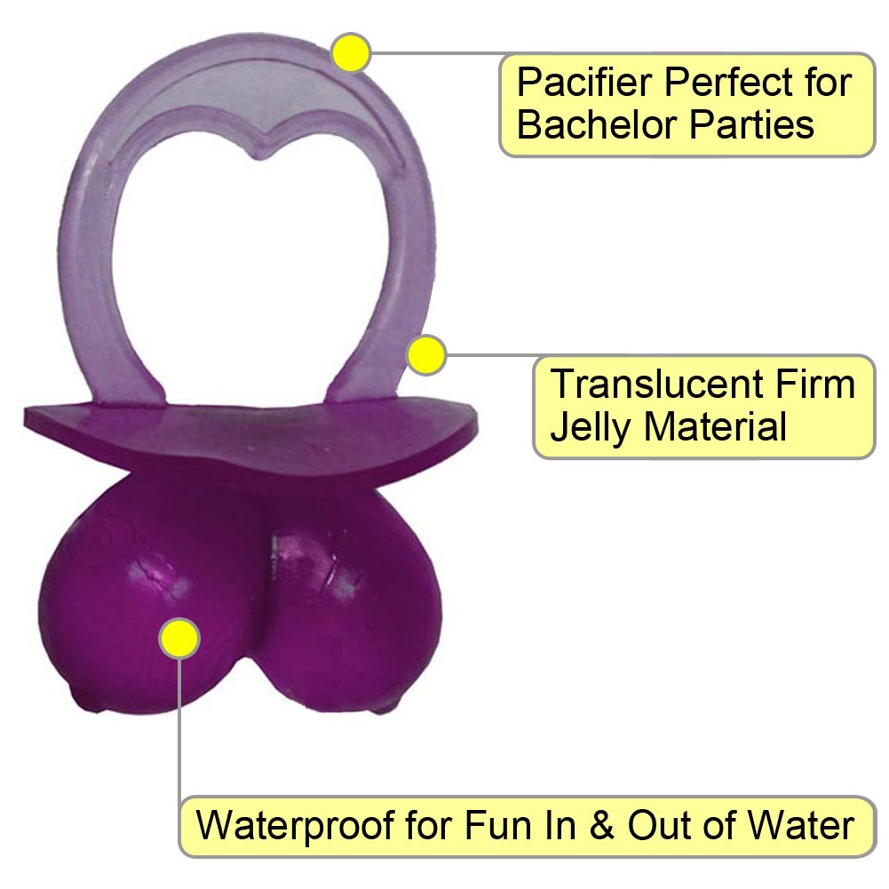 OptiSex Jelly Booby Pacifier Assorted Colors - View #1