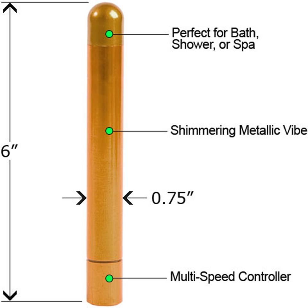 "Alumination Multi Speed Waterproof Vibe 6"" Gold - View #1"