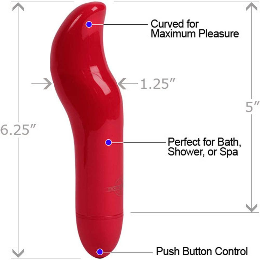 "Amore G-Spot Personal Intimate Vibrator 6.25"" Fire Red - View #1"