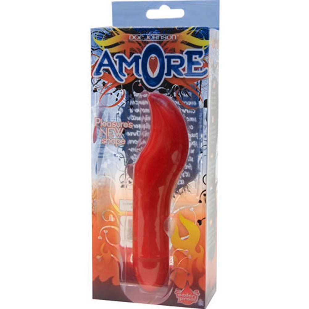 "Amore G-Spot Personal Intimate Vibrator 6.25"" Fire Red - View #3"