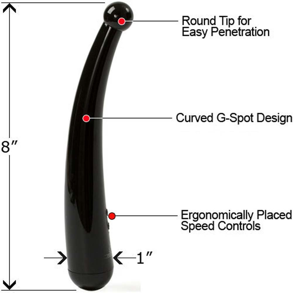 "Harmony Radiance G-Spot Waterproof Vibe 8"" Yin Black - View #1"