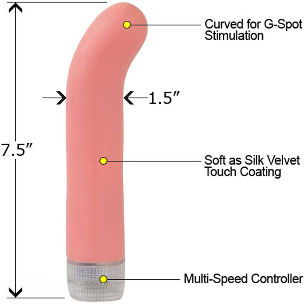 "Florella G-Spot Waterproof Vibe 7.5"" Blush Pink - View #1"