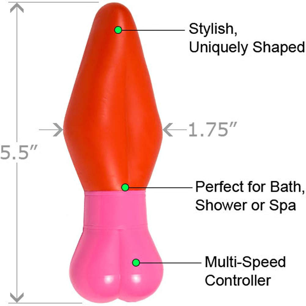 "Twisted Hearts Lust Waterproof Vibe 5.5"" Red Pink - View #1"