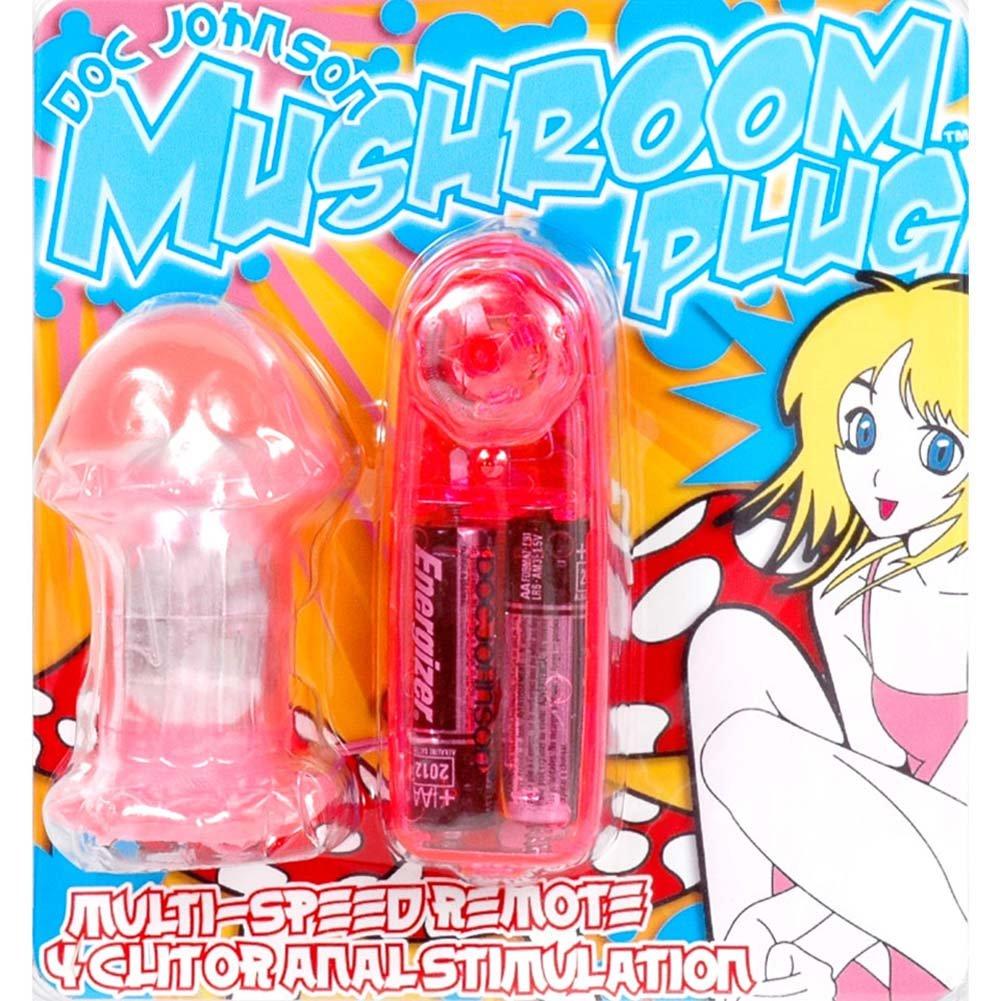 "Mushroom Alice Vibrating Anal Plug 3"" Pink - View #3"