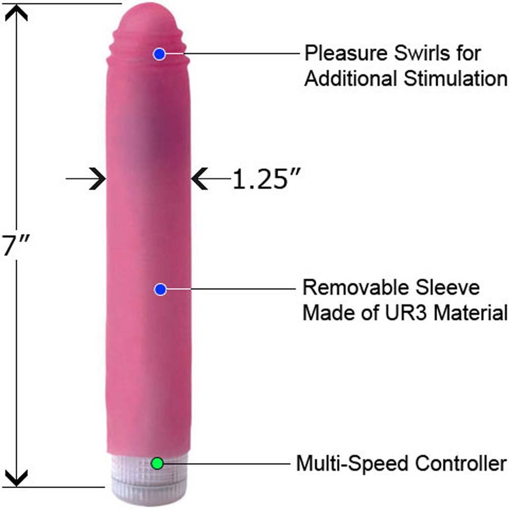 "Vivid Sunrise UR3 Soft Sleeve Vibrator 7"" Fuschia - View #1"