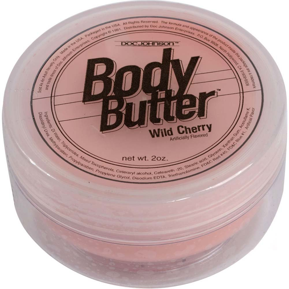Doc Johnson Edible Body Butter Wild Cherry 2 Fl. Oz. - View #2