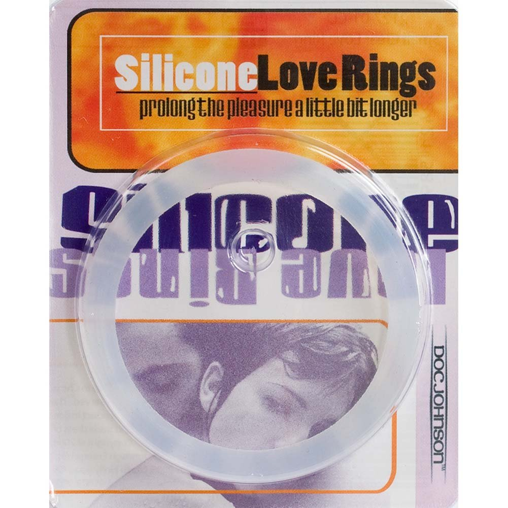 "Silicone Love Ring Large 2.25"" Clear - View #3"