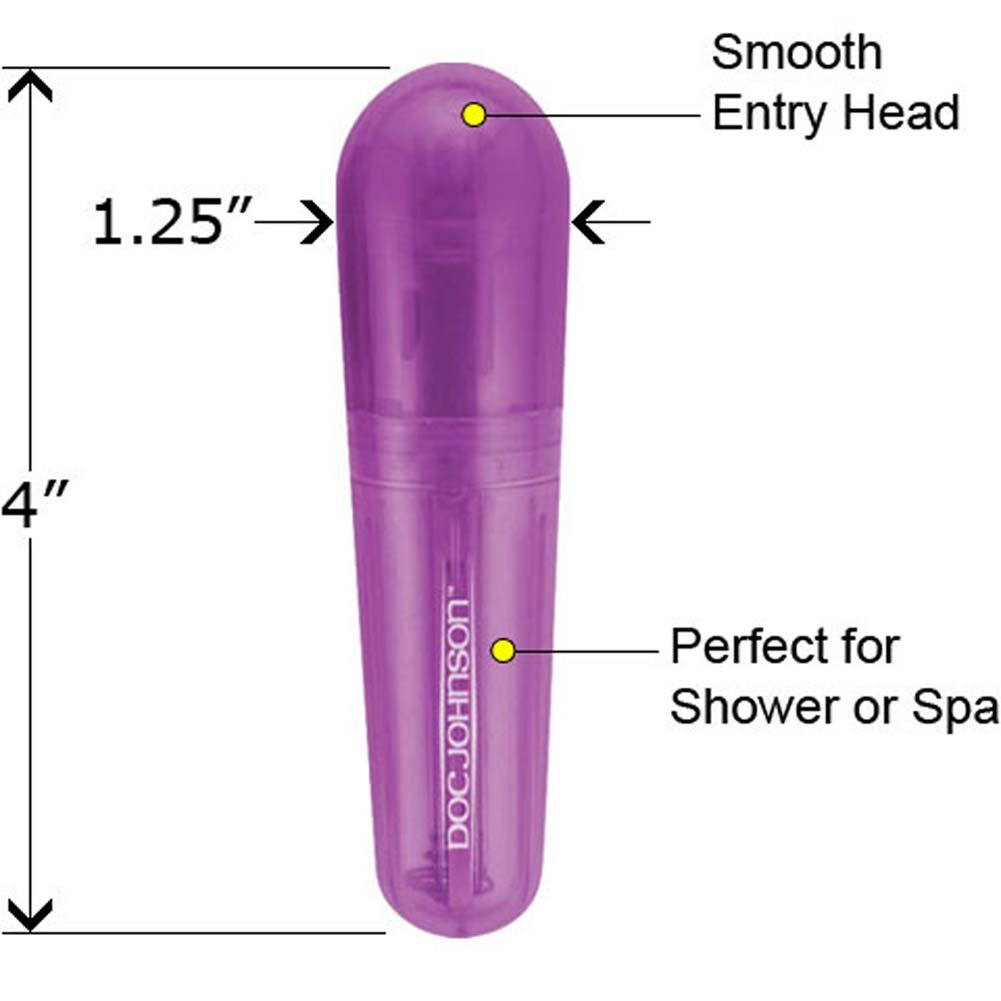 "Go Vibe Waterproof Personal Massager 4"" Purple - View #1"