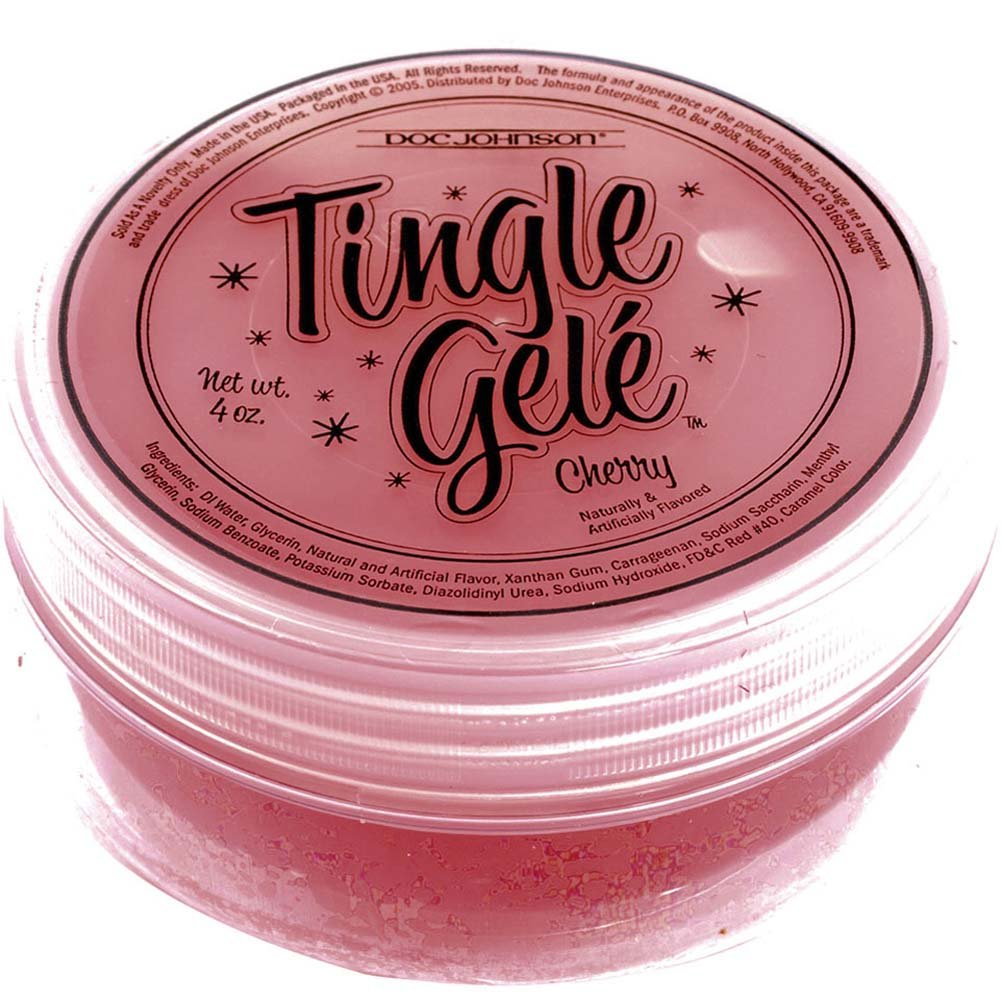 Tingle Gele Edible Sensual Lube 4 Fl. Oz Cherry - View #2