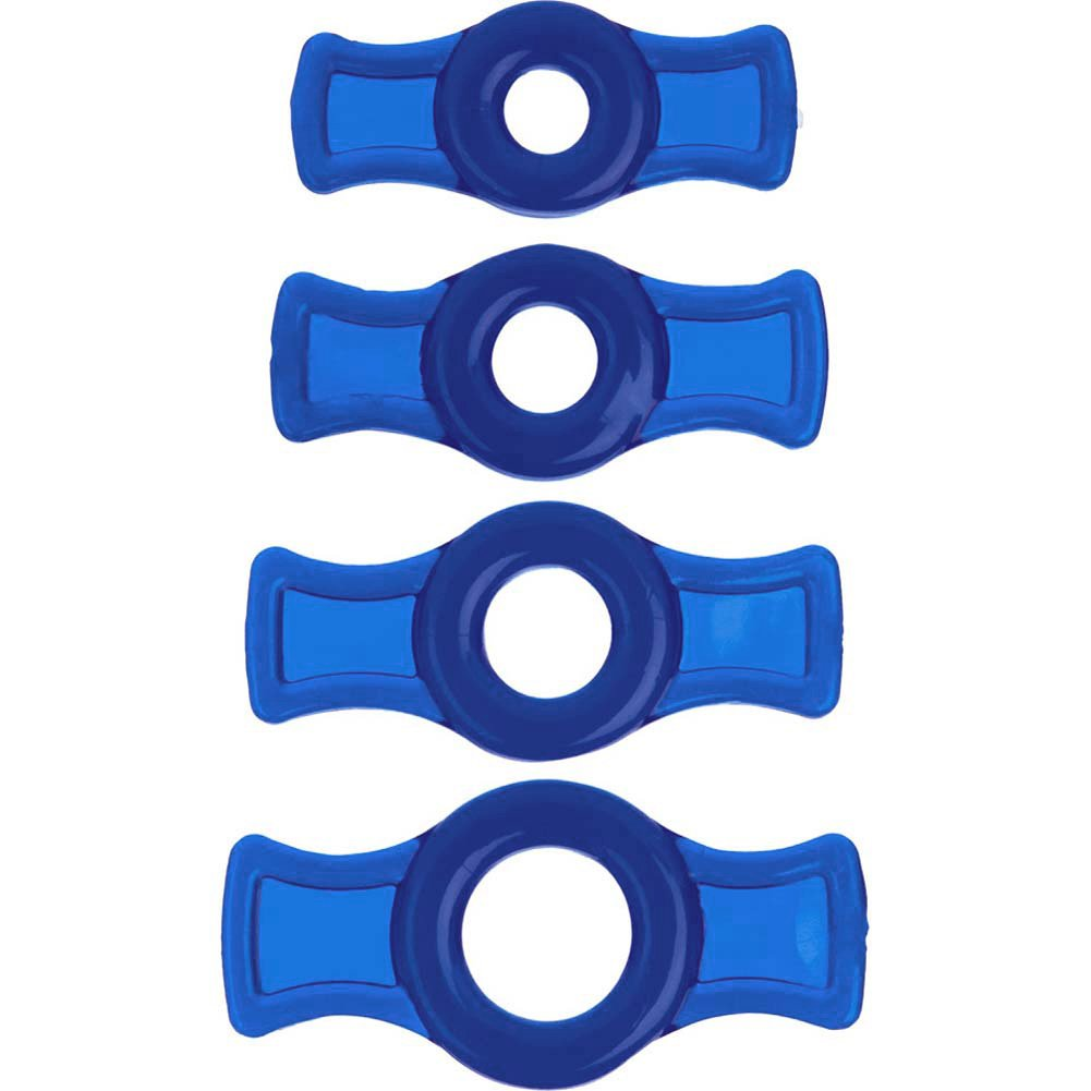 TitanMen Cock Ring Set for Men Blue - View #2