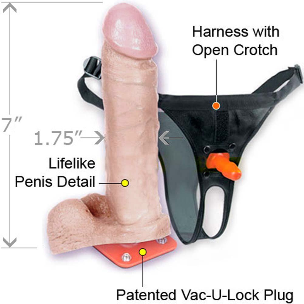 "Vac-U-Lock Ultra Harness Set and UR3 6"" Cock with Balls - View #1"