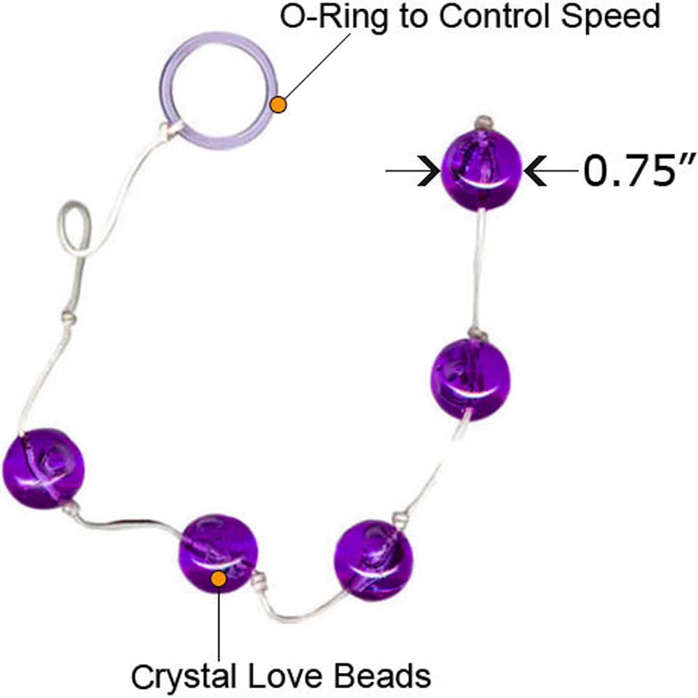 "Vivid Crystal Love Beads Briana 0.75"" Large Purple - View #1"