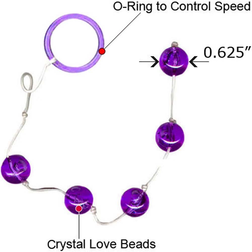 "Vivid Crystal Love Beads Sky 0.625"" Medium Purple - View #1"