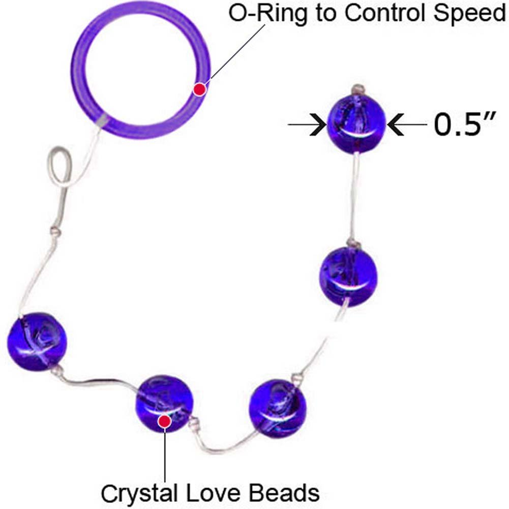 "Vivid Crystal Love Beads Autumn 0.5"" Small Purple - View #1"
