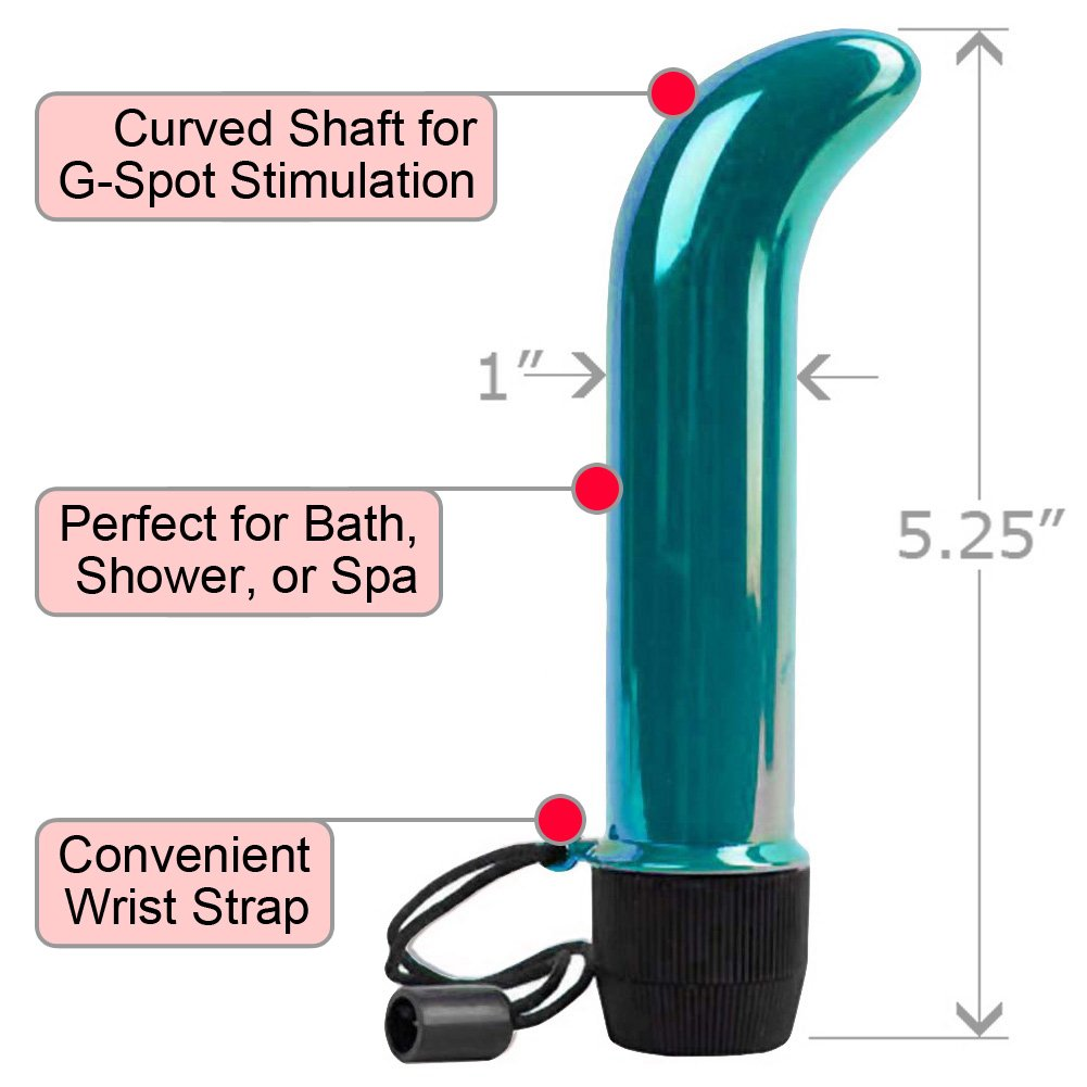 "OptiSex Mini G-Spot Intimate Vibrator for Women 5"" Shimmering Teal - View #1"