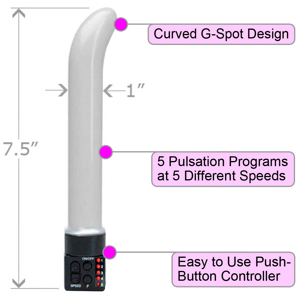 "OptiSex Multi Function Female G-Spot Vibrator 7.5"" ASSORTED COLORS - View #1"