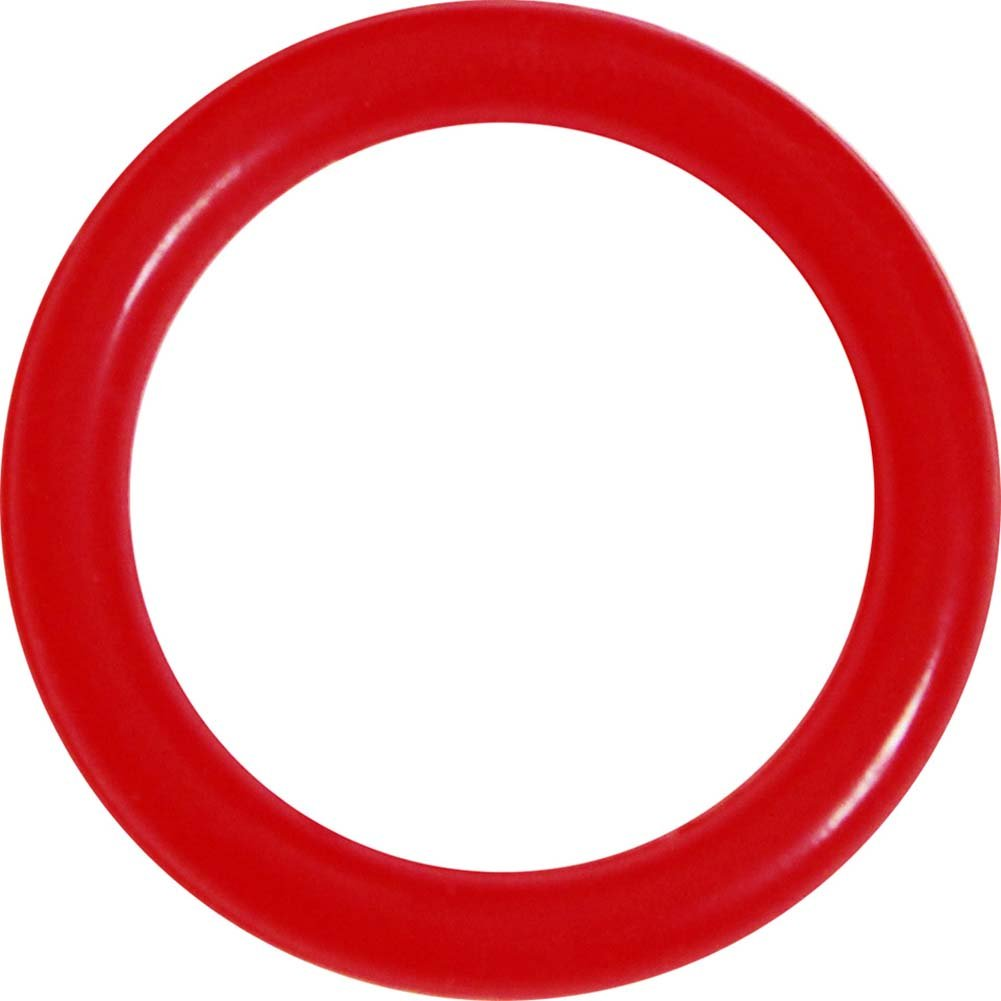 OptiSex Premium Silicone Erection Control Ring Red Medium - View #2
