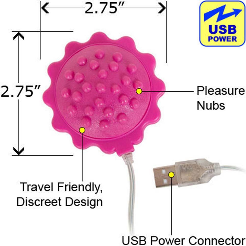 OptiSex Love Flower iPhone Charger and USB Vibe Pink - View #1