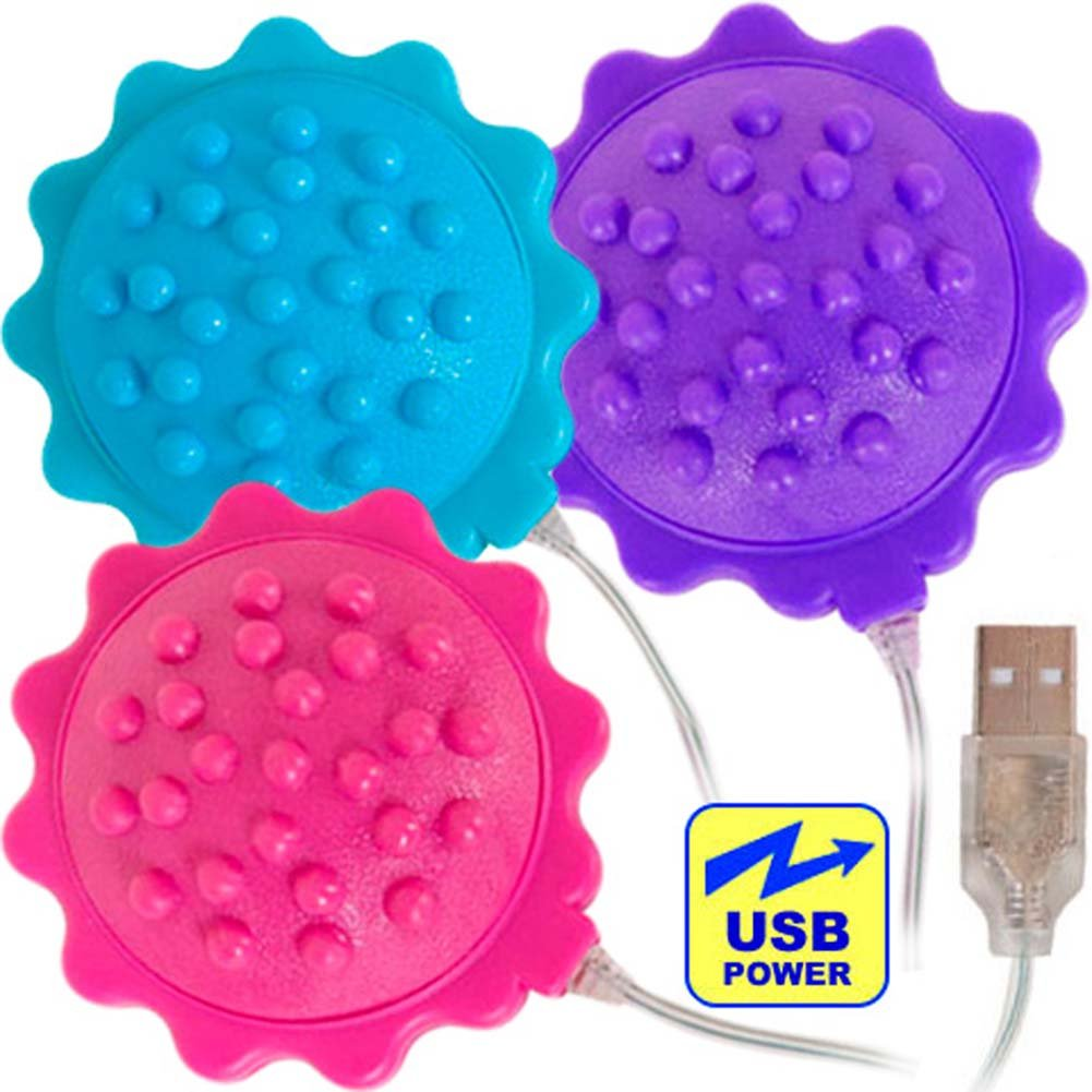 OptiSex Love Flower iPhone Charger USB Vibe ASSORTED COLORS - View #2