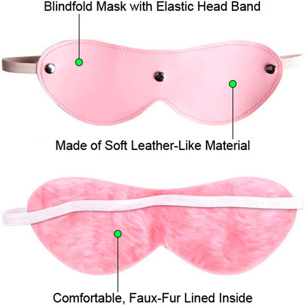 OptiSex Lush Leatherette Blindfold Eye Mask Blushing Pink - View #1