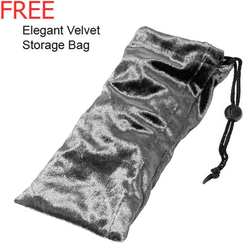 Velvet Storage Pouch Elegant Silver Grey - View #1