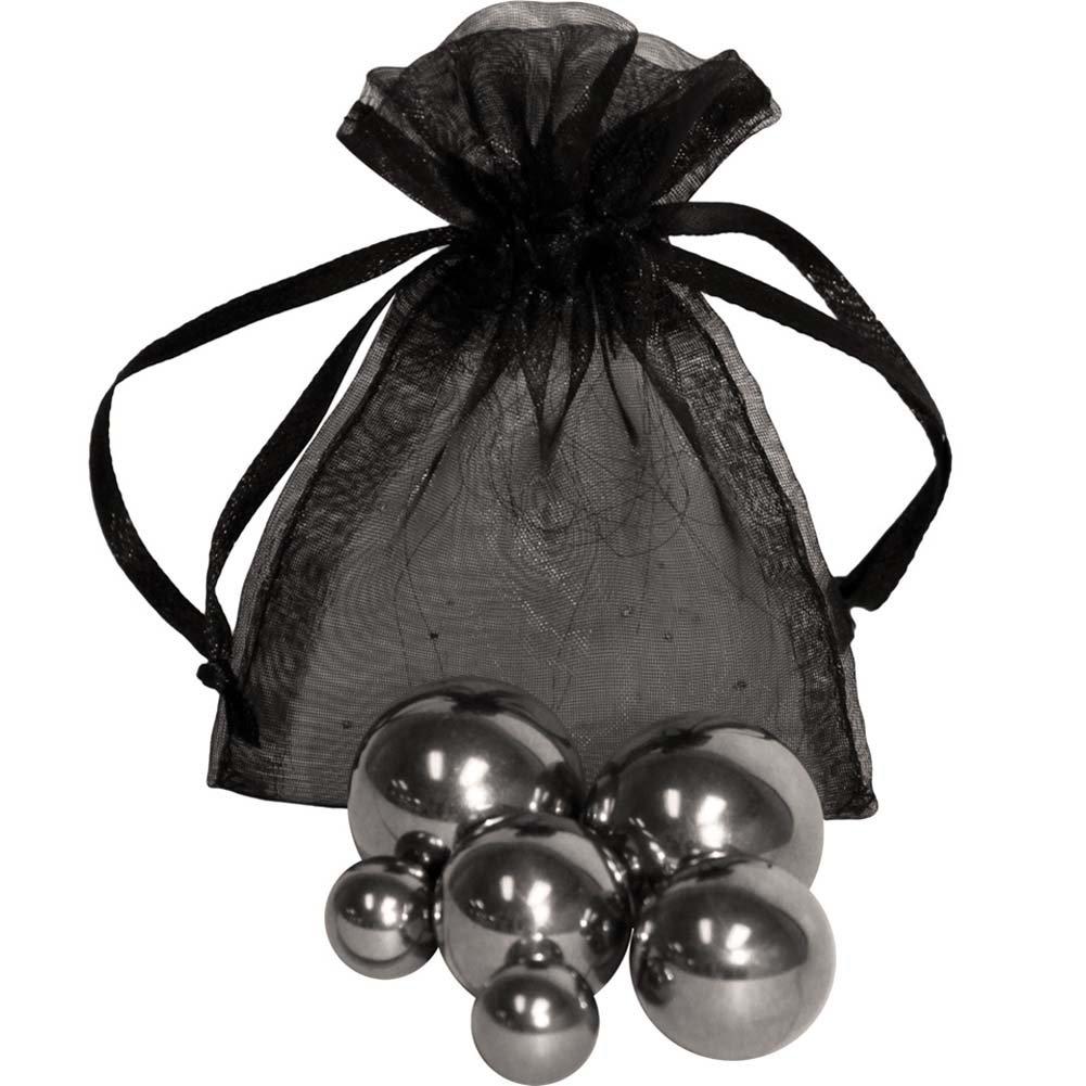 OptiSex 6 Solid Steel Ben Wa Balls with Storage Bag - View #2