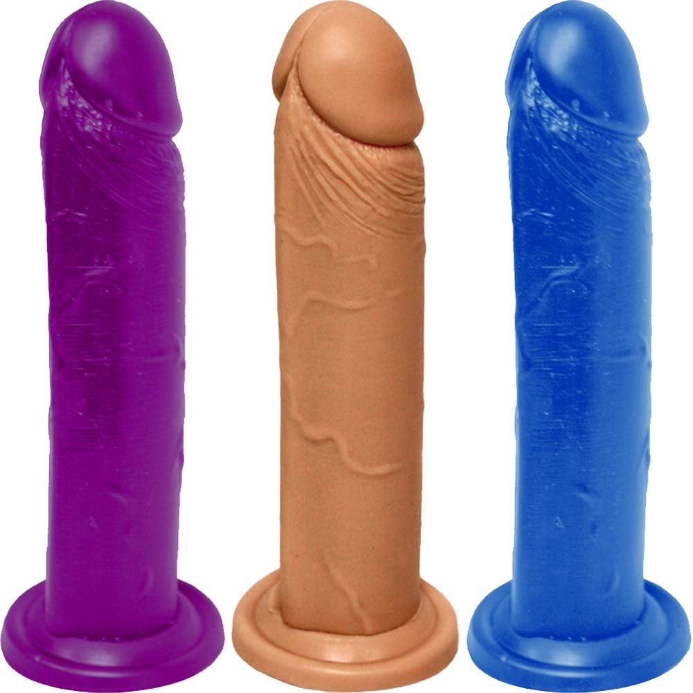 "Realistic Cock with Suction Base 8"" ASSORTED COLORS - View #2"