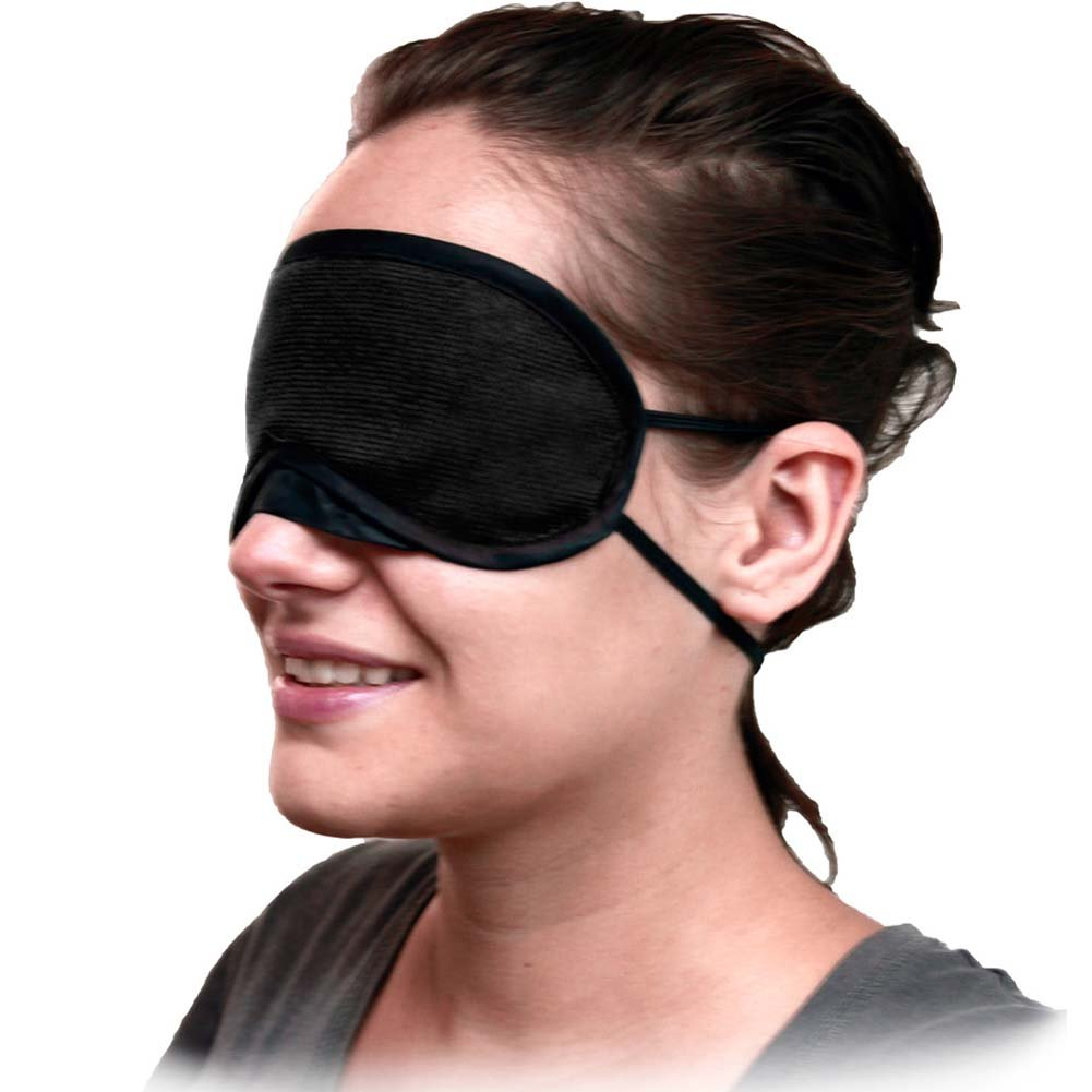 Velvet Double Strap Blindfold Eye Mask Pink - View #3