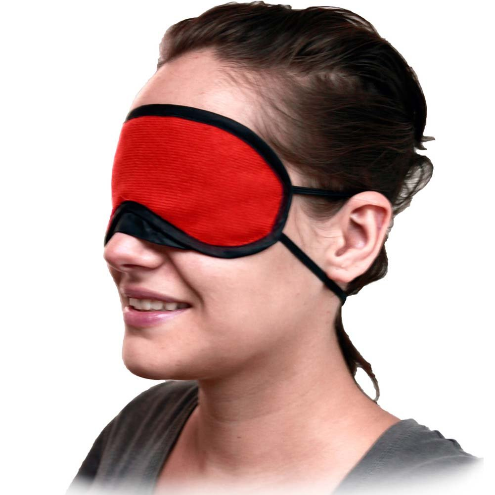 Velvet Double Strap Blindfold Eye Mask ASSORTED COLORS - View #1