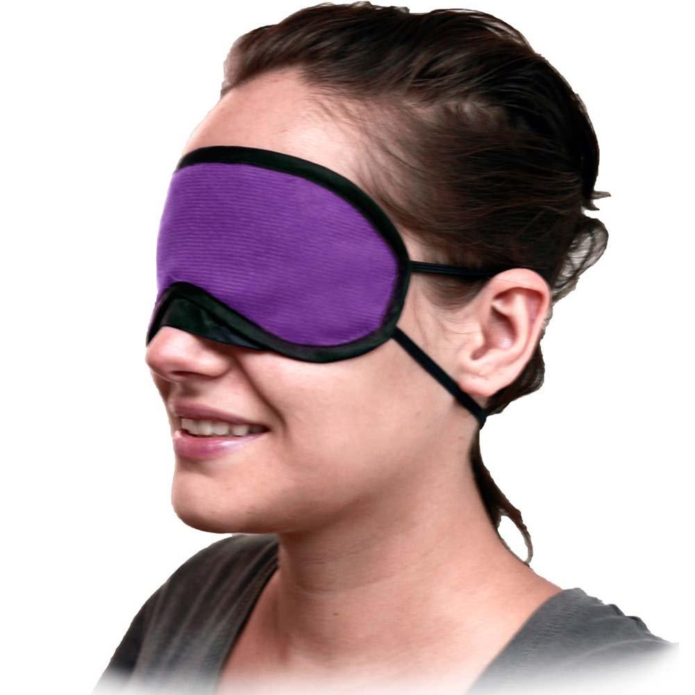 Velvet Double Strap Blindfold Eye Mask ASSORTED COLORS - View #3