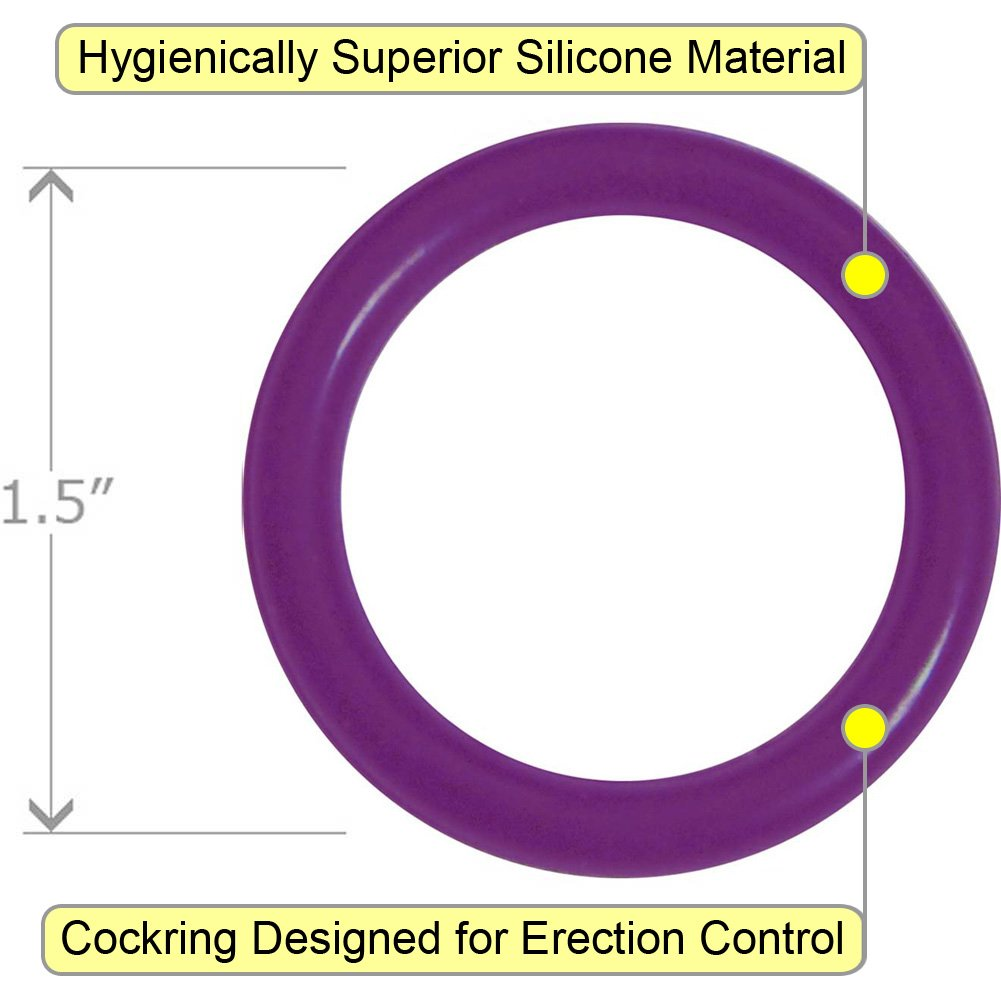 OptiSex Super Silicone Cockring Medium Purple - View #1