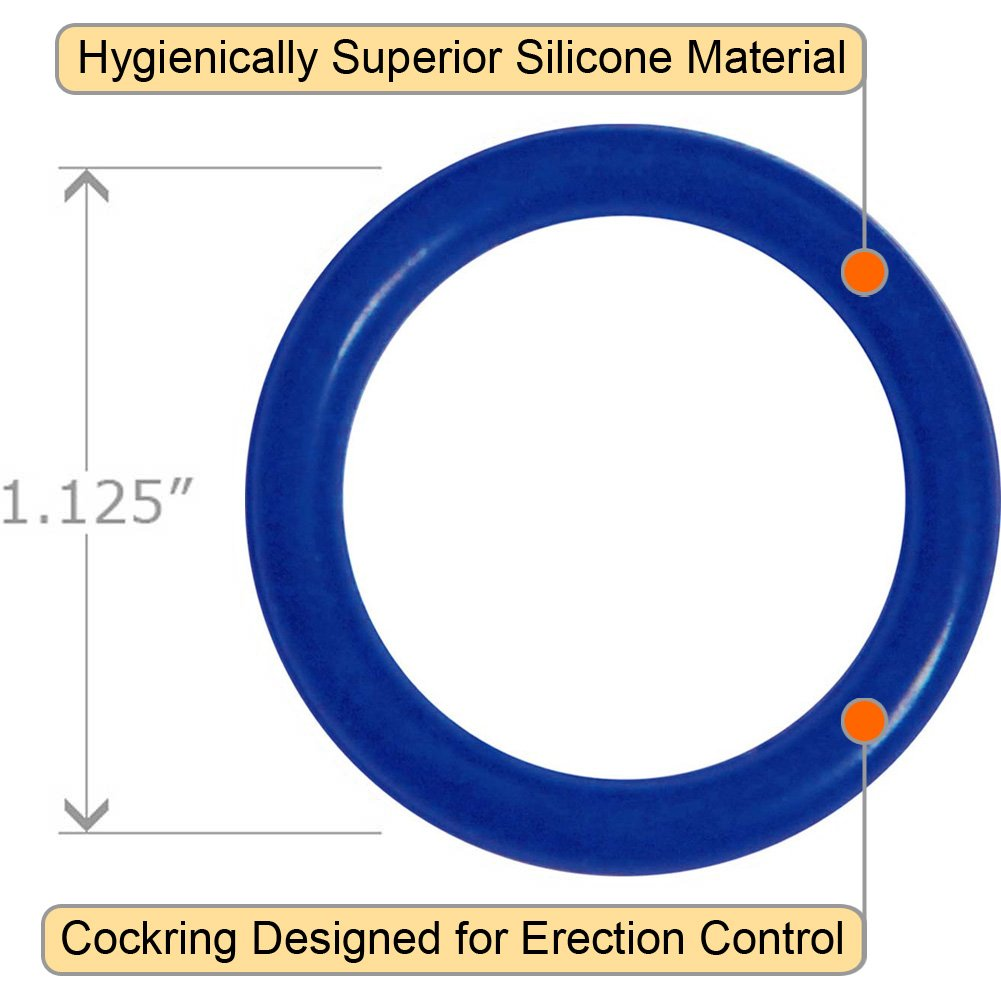 OptiSex Super Silicone Erection Control Cock Ring Extra Small 28mm Blue - View #1
