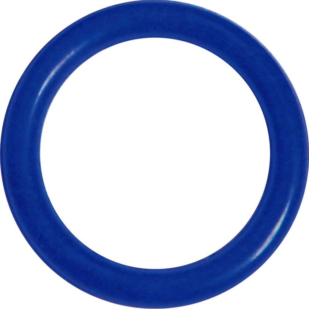 OptiSex Super Silicone Erection Control Cock Ring Small 31mm Blue - View #2