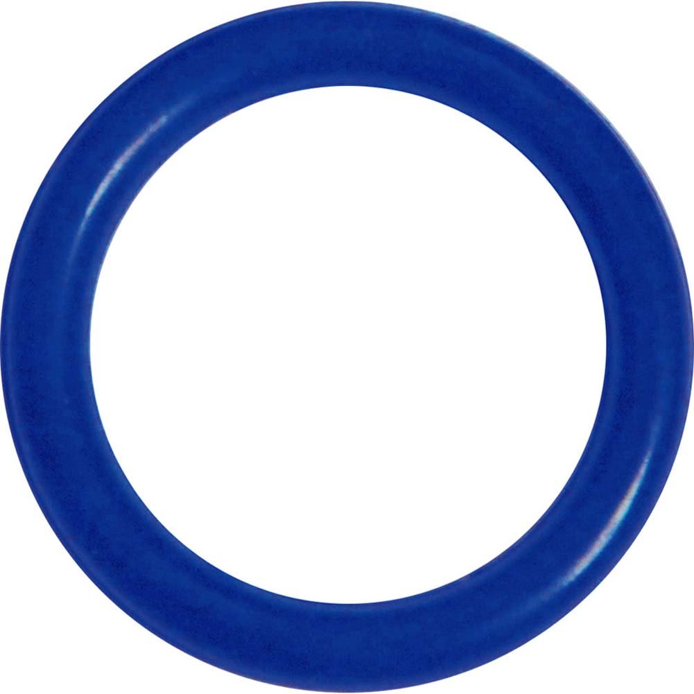 OptiSex Super Silicone Cockring Medium Blue - View #2