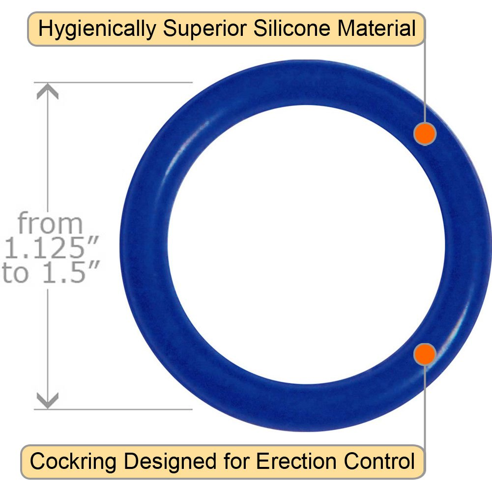 OptiSex Super Silicone Cockrings Set for Men True Blue - View #1