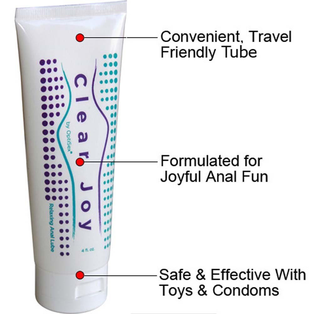 CyberGlass Mini G-Spot Dong and OptiSex Clear Joy Premium Anal Lube Combo 4 Fl. Oz. - View #4
