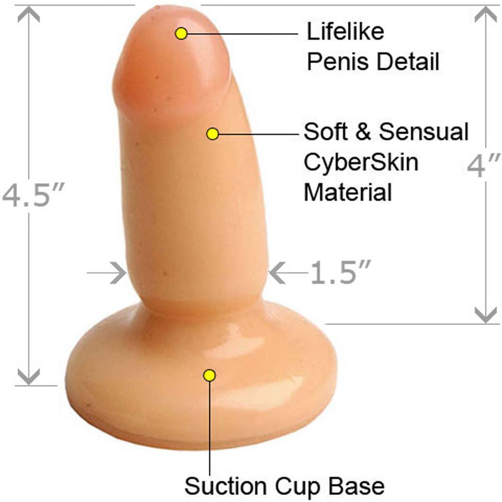 "Little Stud Butt Plug 4.5"" and OptiSex Clear Joy Relaxing Anal Lube Combo 1 Fl. Oz. - View #3"