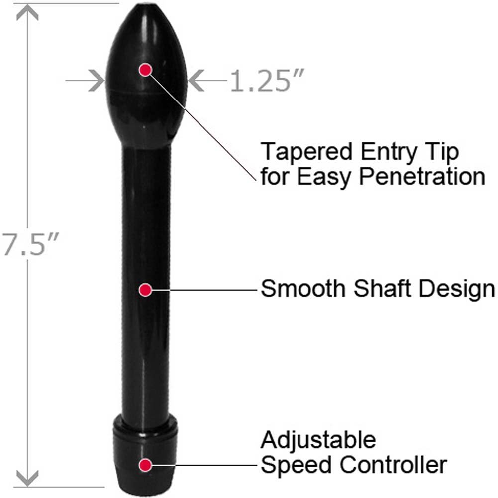 "OptiSex Magic Vibrating Anal Probe 7.5"" Black - View #1"