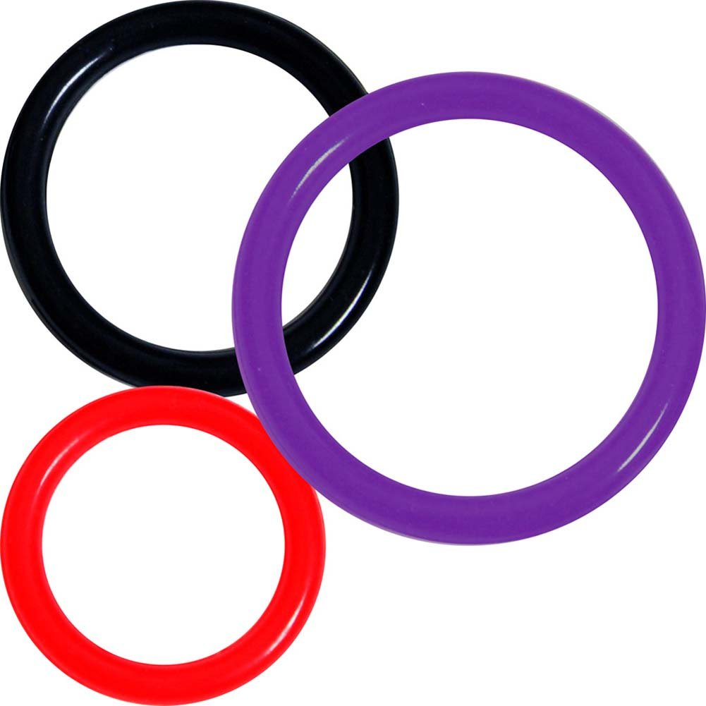 OptiSex Super Silicone Erection Control Ring Set for Men 3 Rings ASSORTED COLORS - View #2